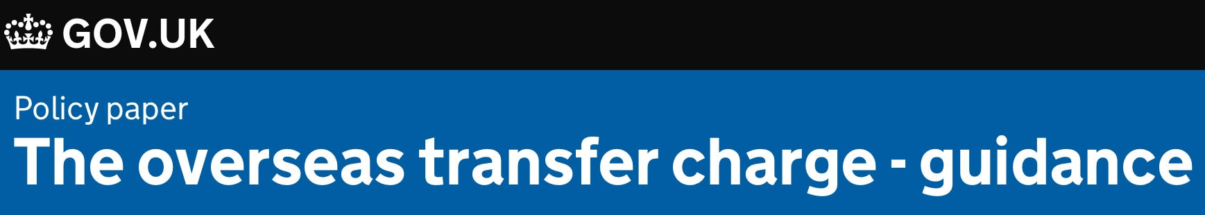 Overseas Transfer Charge